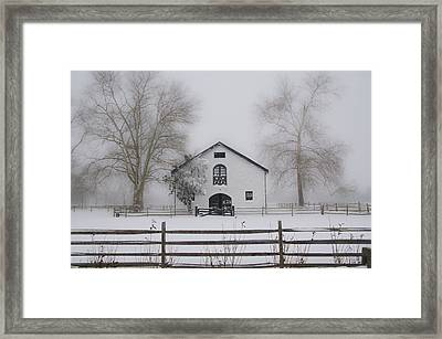 Winter In Whitemarsh Pa Framed Print by Bill Cannon