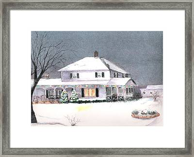 Winter In Wisconsin Framed Print