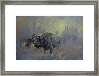 Winter In Yellowstone Framed Print