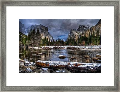 Winter In Yosemite Valley Framed Print