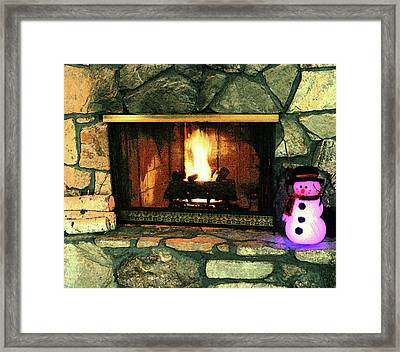 Winter Indoors Framed Print