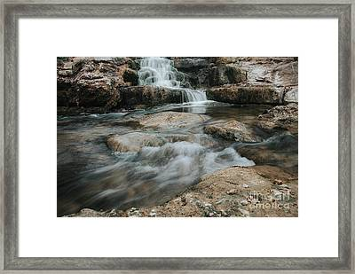 Framed Print featuring the photograph Winter Inthe Falls by Iris Greenwell