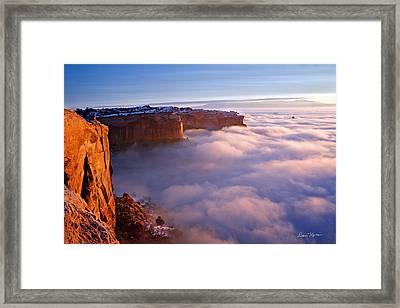 Winter Inversion At Sunrise Framed Print