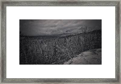 Framed Print featuring the photograph Winter Is Coming by Ryan Smith