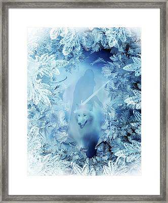 Winter Is Here - Jon Snow And Ghost - Game Of Thrones Framed Print