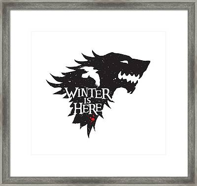 Winter Is Here Framed Print by Edward Draganski