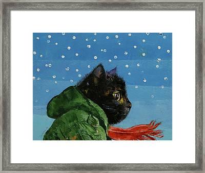 Winter Kitten Framed Print by Michael Creese