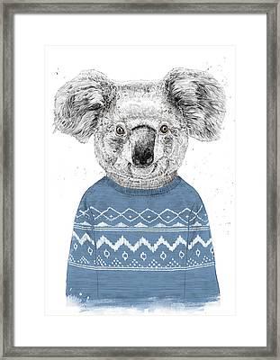 Winter Koala Framed Print