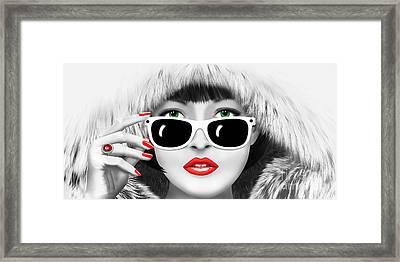 Winter Lady Framed Print by Monika Juengling