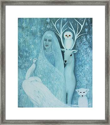 Winter Lady Framed Print