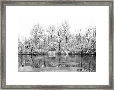 Winter Lake Framed Print by Dan Sproul