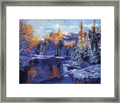 Winter Lake Memories Framed Print