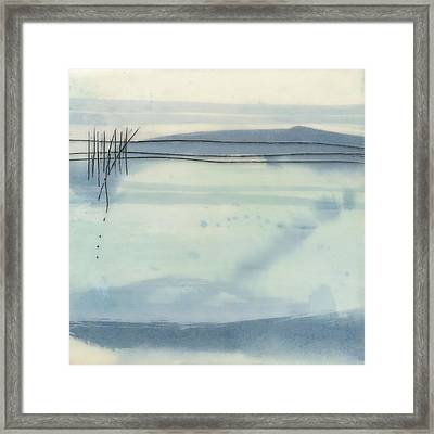 Winter Lake Framed Print by Sally  Tuttle