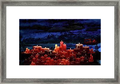 Winter Lakes Candle Light 2 Framed Print by Ken Figurski