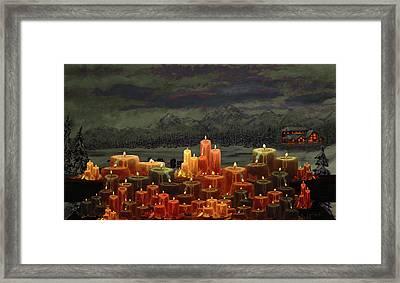Winter Lakes Candle Light 3 Framed Print by Ken Figurski
