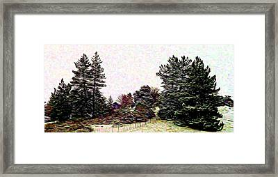 Winter Landscape 1 In Abstract Framed Print