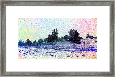 Winter Landscape 2 In Abstract Framed Print