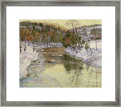 Winter Landscape Framed Print by George Gardner Symons