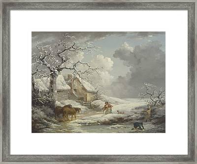 Winter Landscape Framed Print by George Morland