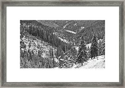 Winter Landscape In Giurgeu Mountains Framed Print by Gabriela Insuratelu
