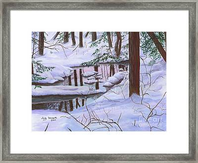 Winter Landscape Framed Print by Judy Filarecki