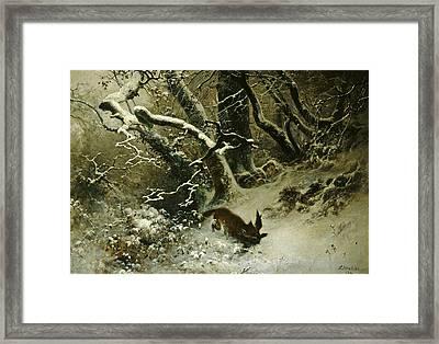 Winter Landscape Framed Print by Ludwig Munthe