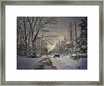 Winter Landscape Framed Print by Mikki Cucuzzo