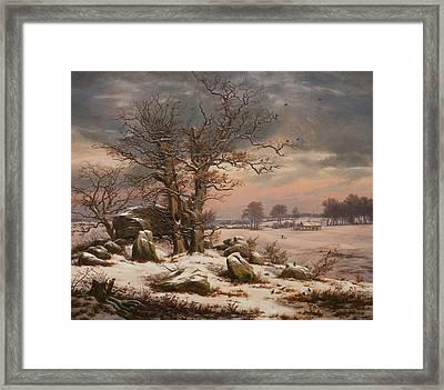 Winter Landscape Near Vordingborg, Denmark Framed Print