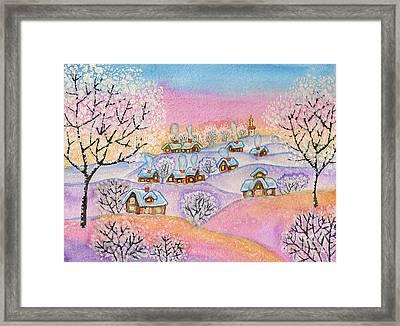Winter Landscape, Painting Framed Print