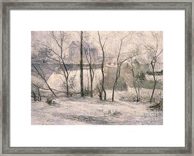 Winter Landscape Framed Print by Paul Gauguin