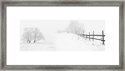 Winter Landscape - Pray For Snow Framed Print by Celestial Images