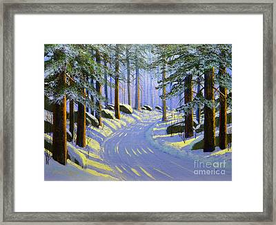Winter Landscape Study 1 Framed Print by Frank Wilson
