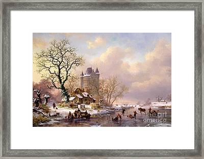 Winter Landscape With Castle Framed Print