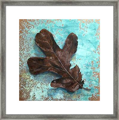 Winter Leaf Framed Print by T Fry-Green