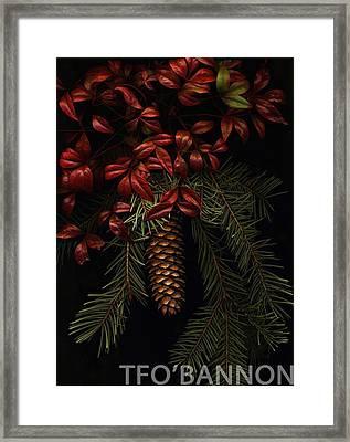 Leaves Of Winter Framed Print
