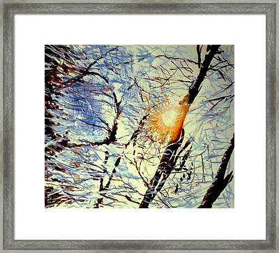 Framed Print featuring the painting Winter Light by Allison Ashton