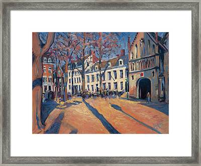 Winter Light At The Our Lady Square In Maastricht Framed Print