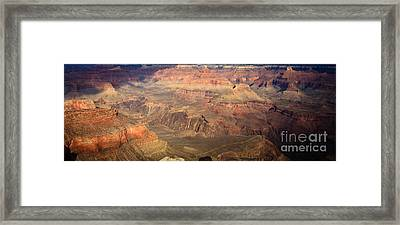 Winter Light In Grand Canyon Framed Print by Olivier Steiner