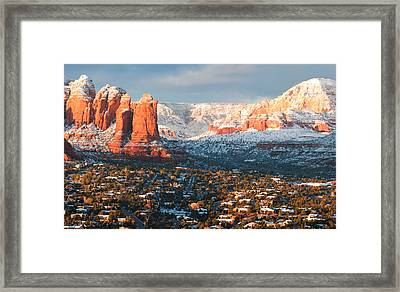 Winter Light In Sedona Framed Print