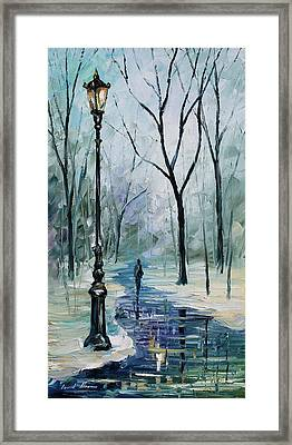 Winter Light Framed Print by Leonid Afremov