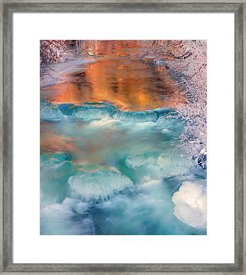 Winter Light Reflections Framed Print by Leland D Howard