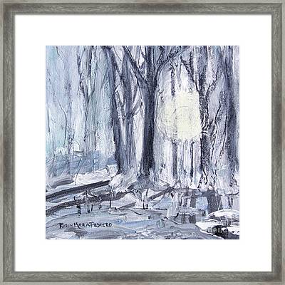Framed Print featuring the painting Winter Light by Robin Maria Pedrero