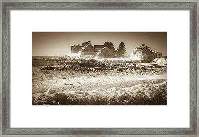 Winter - Lord's Point - Kennebunk Framed Print
