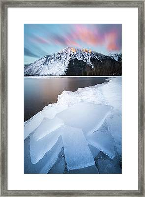 Winter Magic // Lake Mcdonald, Glacier National Park Framed Print