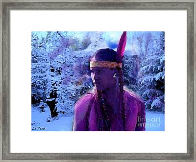 Winter Maiden Framed Print by Le Pera