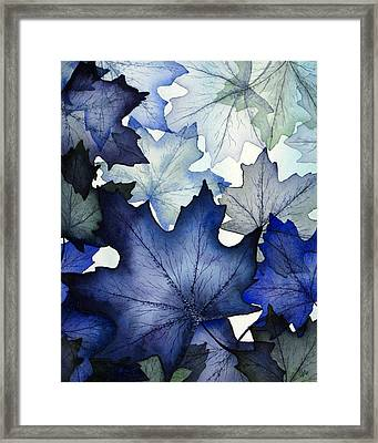 Winter Maple Leaves Framed Print