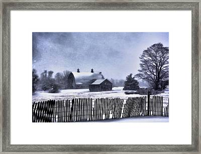 Framed Print featuring the photograph Winter by Mark Fuller