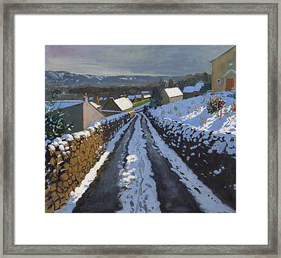 Winter Middleton Derbyshire Framed Print by Andrew Macara