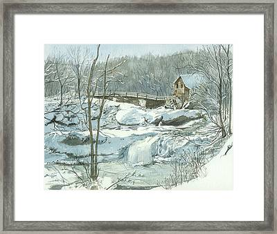 Winter Mill Framed Print