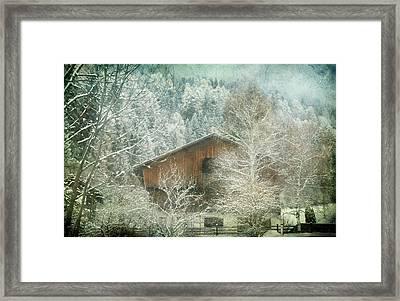 Winter Mood Framed Print by Vittorio Chiampan